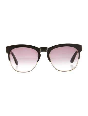 Gradient Tinted Clubmaster Sunglasses