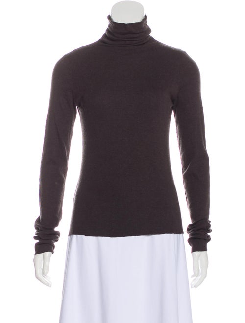 Lauren Manoogian Turtleneck Long Sleeve Top Grey