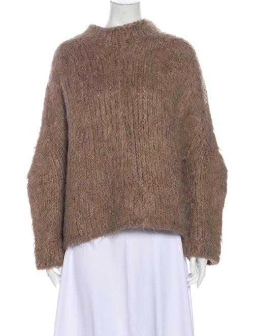 Lauren Manoogian Alpaca Mock Neck Sweater Brown