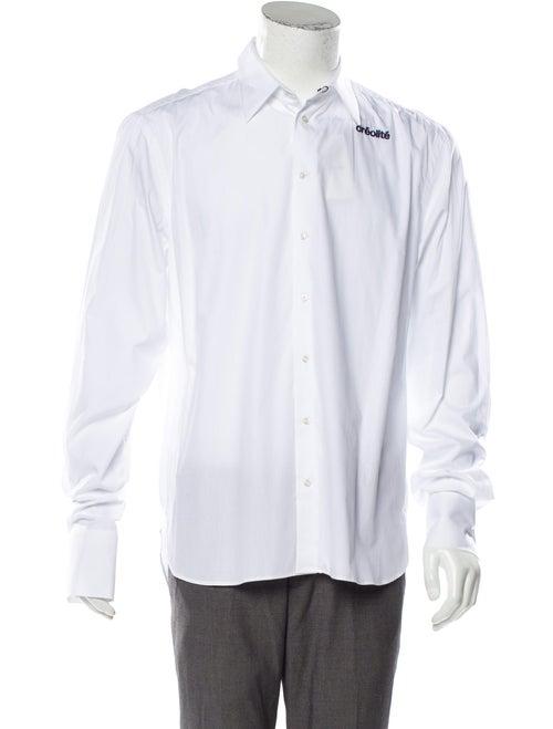 Wales Bonner Woven Dress Shirt w/ Tags white