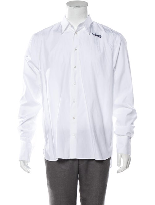 Wales Bonner Woven Button-Up Shirt w/ Tags white