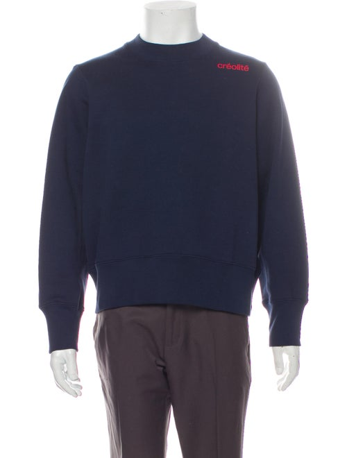 Wales Bonner Crew Neck Long Sleeve Sweatshirt Blue
