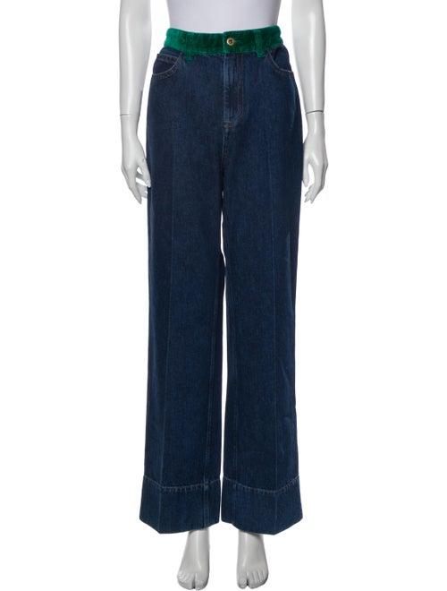 Wales Bonner High-Rise Wide Leg Jeans w/ Tags Blue