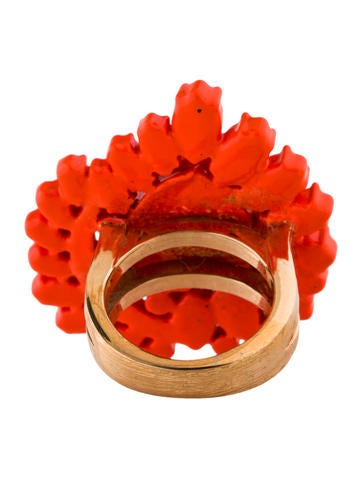 Neon Orange Flower Ring