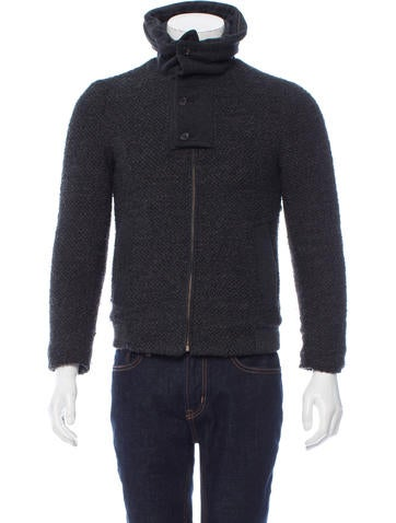 Wooyoungmi Knit Rib Knit-Trimmed Jacket None