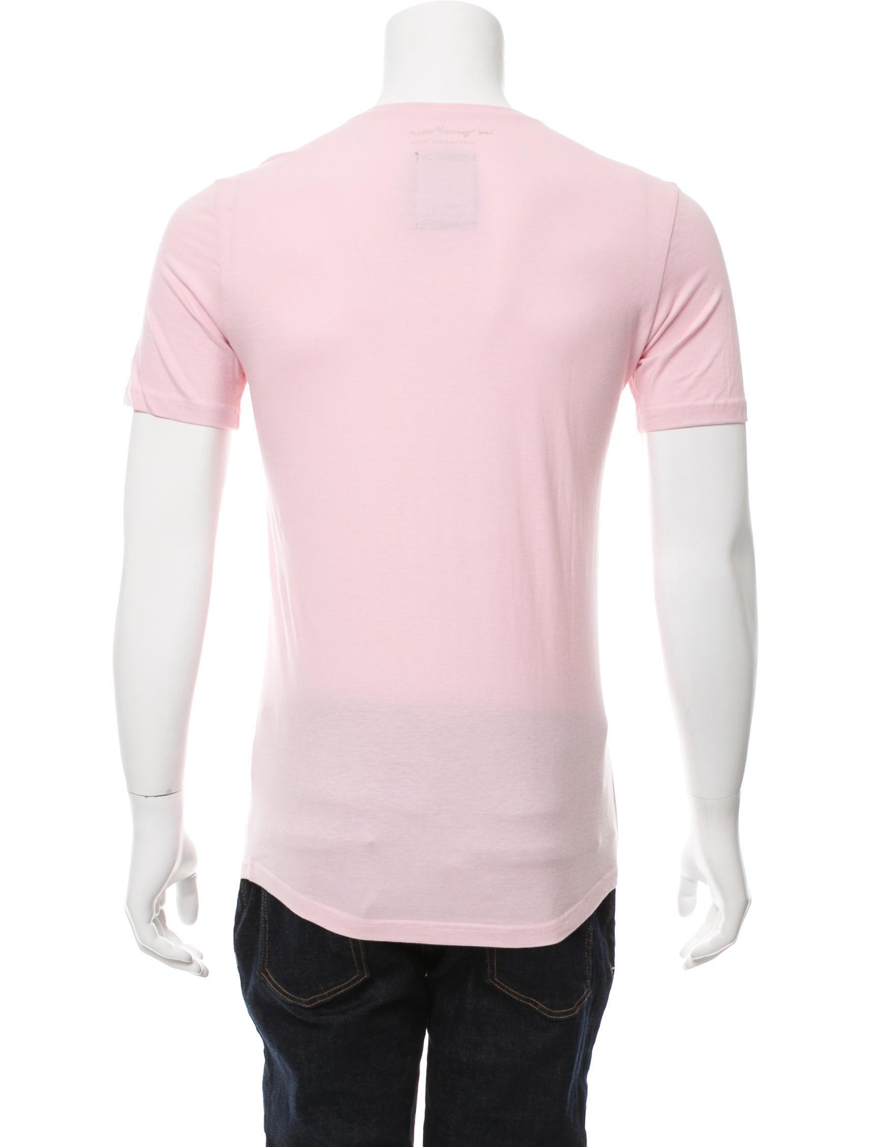 Wooyoungmi contrast pocket v neck t shirt clothing for Men s v neck pocket tee shirts