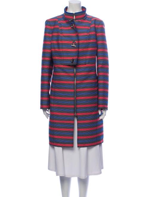 Worth Striped Coat Blue