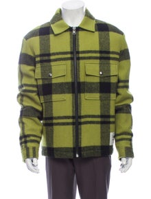 Woolrich x Stussy Wool Plaid Print Trucker Jacket