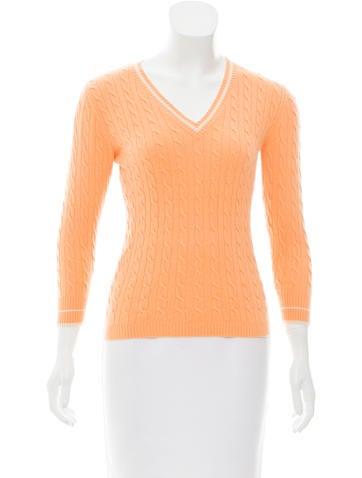 White + Warren Cashmere V-Neck Sweater None