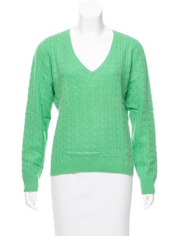 White + Warren Cashmere Cable Knit Sweater None