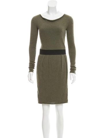 White Warren Silk Amp Cashmere Blend Dress Dresses