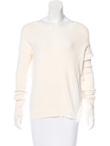 White + Warren Embellished Sweater None