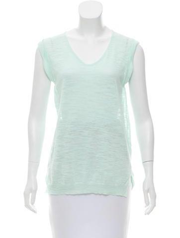 Linen Sleeveless Knit Top