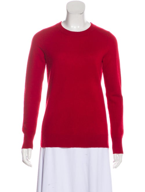 White + Warren Cashmere Crew Neck Sweater Red