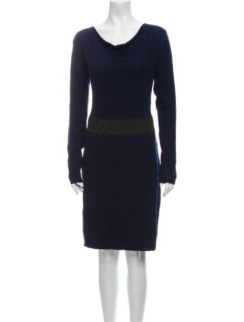 White + Warren Merino Wool Knee-Length Dress White