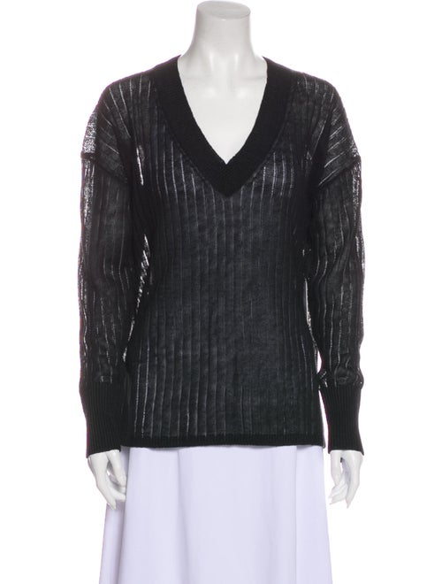 White + Warren Linen V-Neck Sweater w/ Tags White