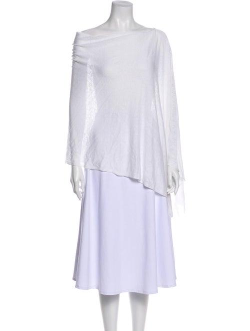 White + Warren Linen Knit Scarf White