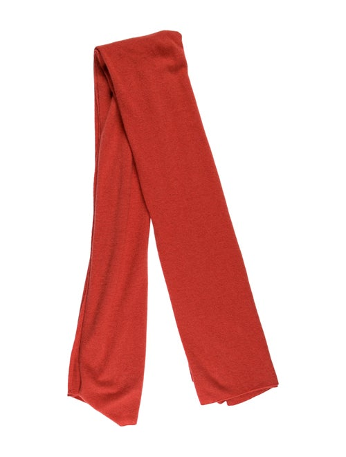 White + Warren Cashmere Knit Scarf Red