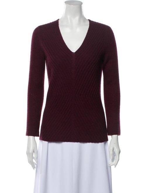 White + Warren Cashmere V-Neck Sweater White