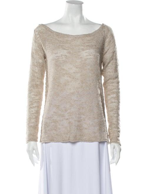 White + Warren Scoop Neck Long Sleeve Sweatshirt W