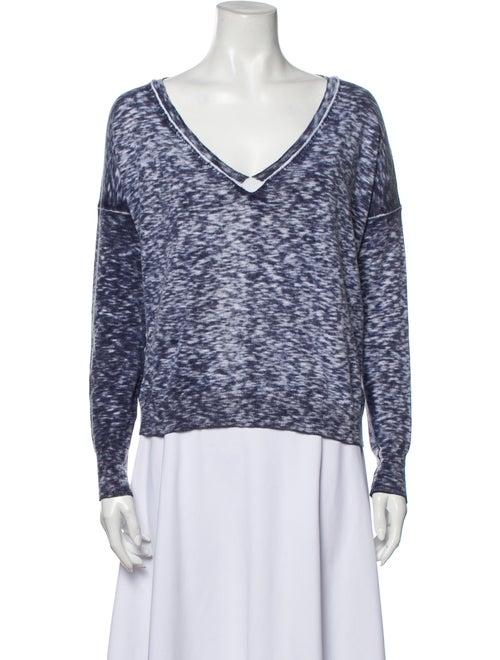 White + Warren V-Neck Long Sleeve Sweatshirt White
