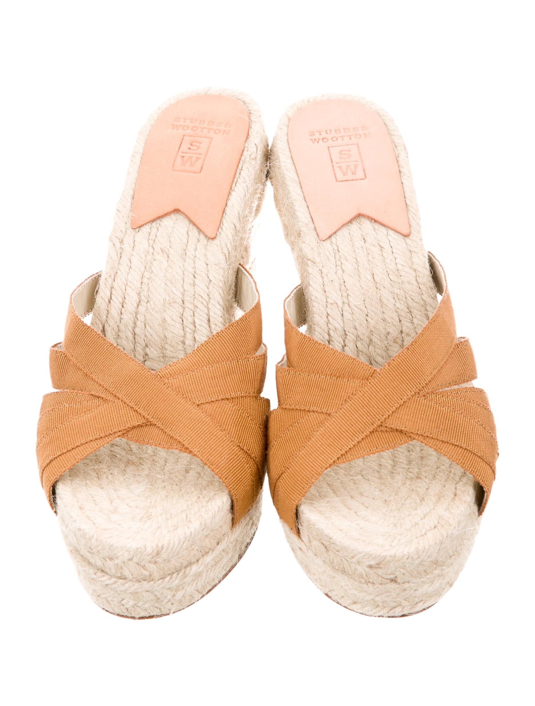 stubbs wootton espadrille slide wedges shoes