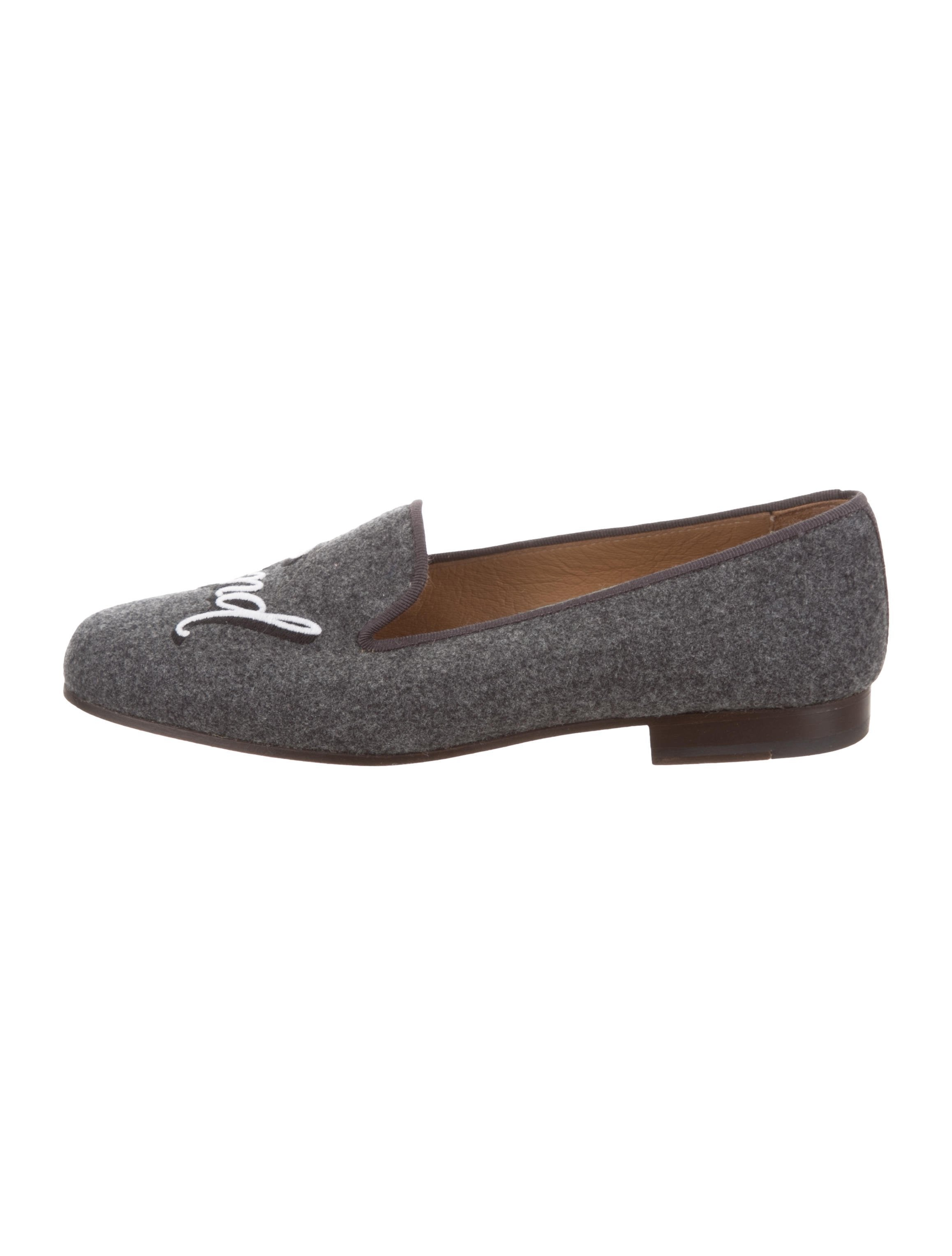 Stubbs & Wootton Felt Round-Toe Loafers new arrival websites cheap online free shipping under $60 xx1fwr