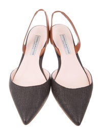 Slingback Pointed-Toe Pumps image 3