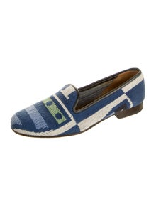 Stubbs & Wootton Patterned Loafers