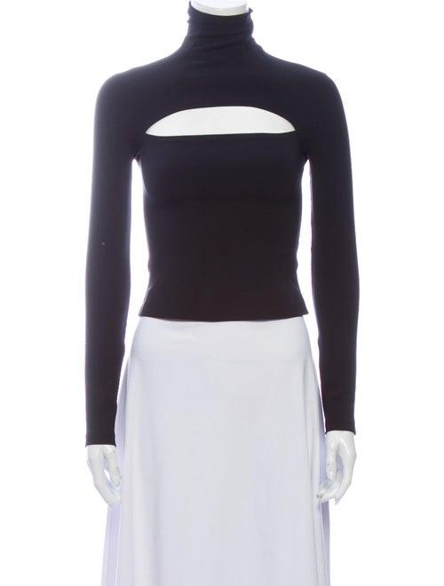 A.w.a.k.e. Mode Turtleneck Long Sleeve Top Black