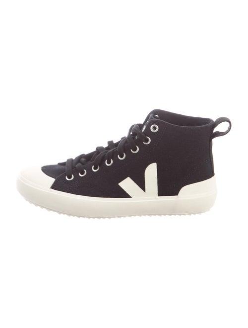 Veja Colorblock Pattern Sneakers Black
