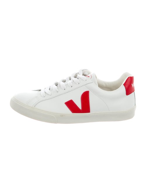 Veja Leather Graphic Print Sneakers White