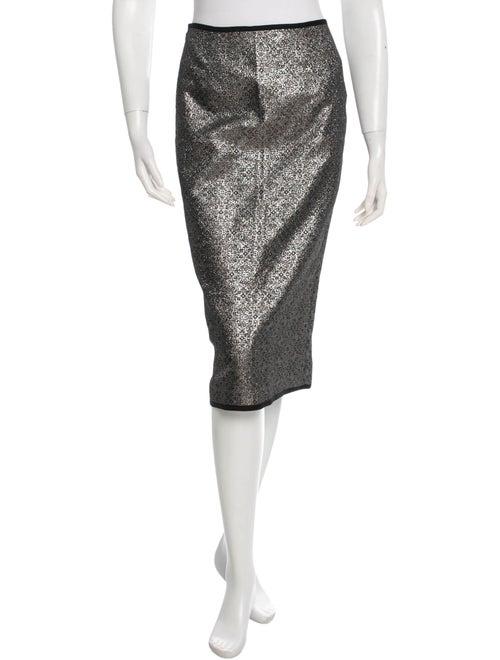 Nomia Metallic Pencil Skirt Silver