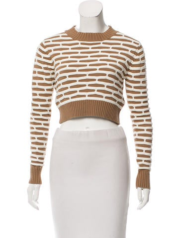 Nomia Patterned Cropped Sweater None
