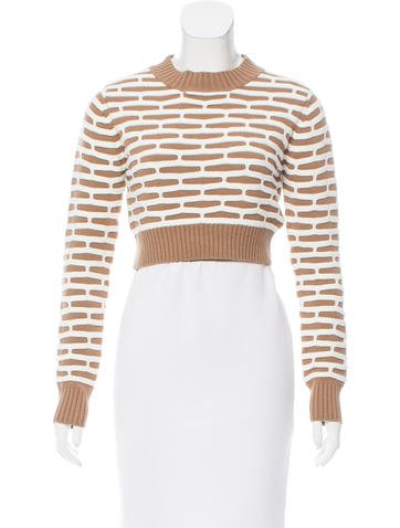 Nomia Cropped Honeycomb Sweater None