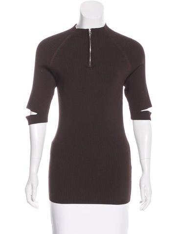 Nomia Rib Knit Short Sleeve Top None