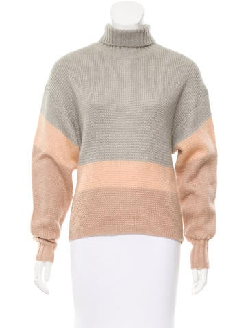 Dagmar Colorblock Turtleneck Sweater w/ Tags None