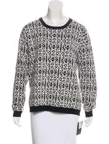 Dagmar Wool-Blend Patterned Sweater w/ Tags None