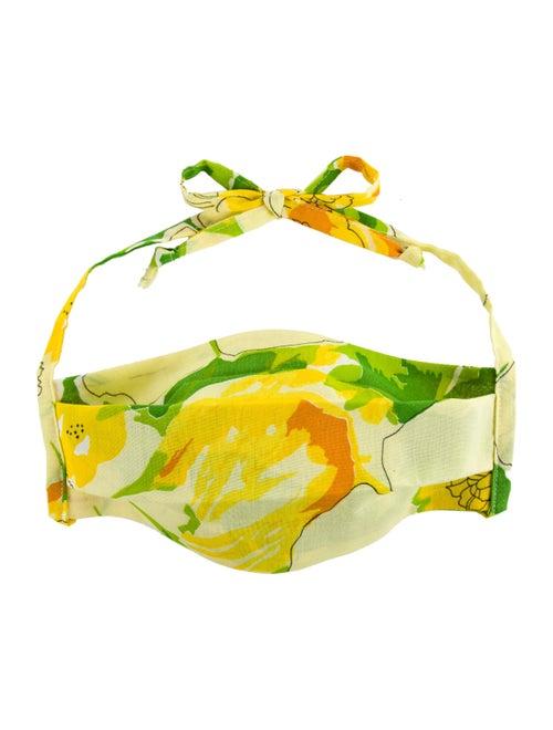 Collina Strada Green Floral Mask