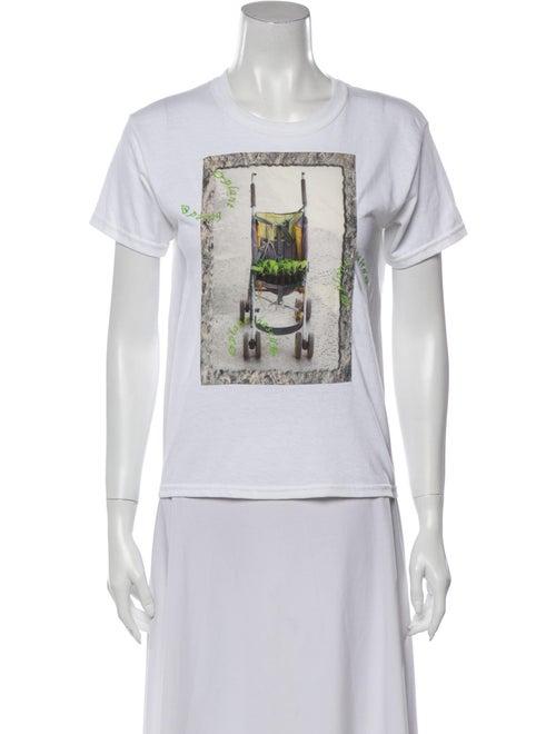 Collina Strada Graphic Print Crew Neck T-Shirt Whi