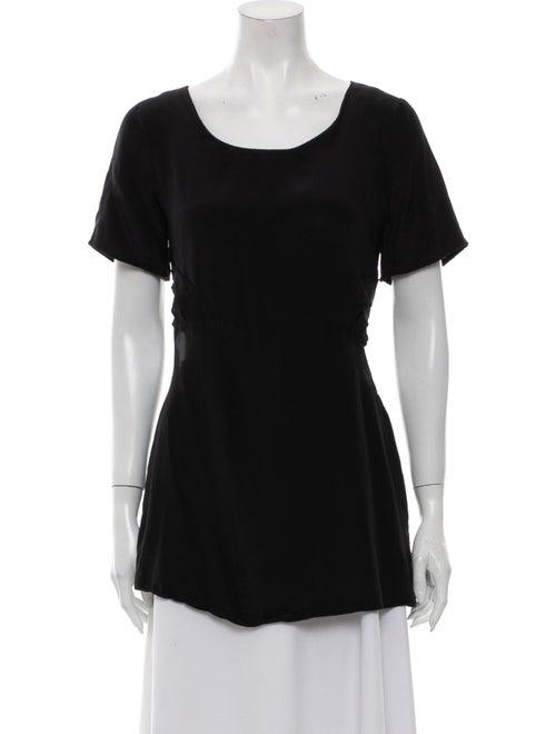 Collina Strada Scoop Neck Short Sleeve T-Shirt Bla