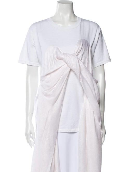 Collina Strada Crew Neck Short Sleeve T-Shirt Whit