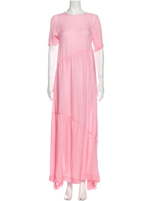 Collina Strada Silk Long Dress w/ Tags Pink