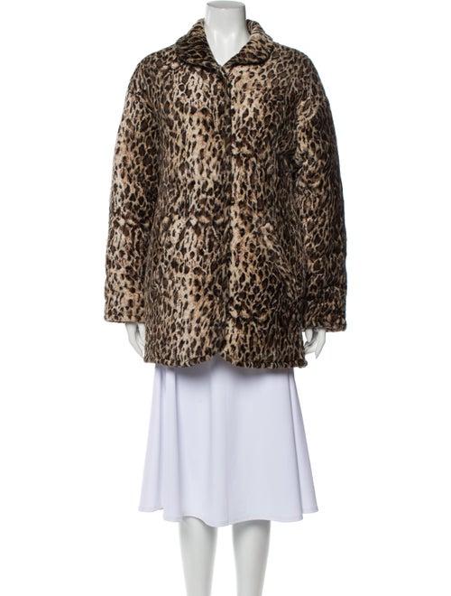 Collina Strada Animal Print Faux Fur Coat
