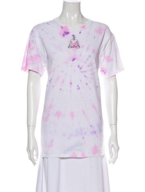 Collina Strada Tie-Dye Print V-Neck T-Shirt Pink
