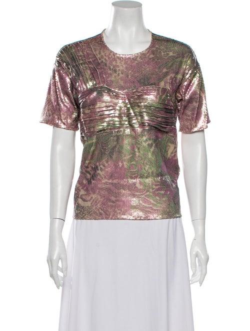 Collina Strada Printed Crew Neck T-Shirt Pink