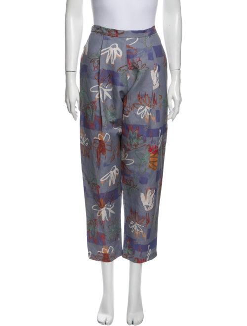 Collina Strada Printed Straight Leg Pants Grey