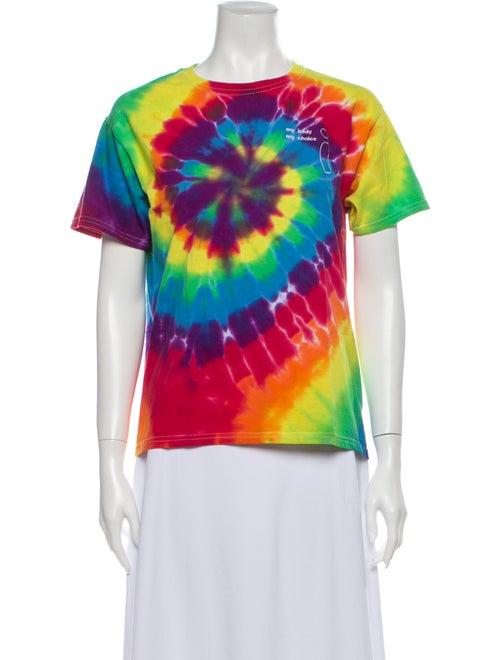 Collina Strada Tie-Dye Print Crew Neck T-Shirt Red