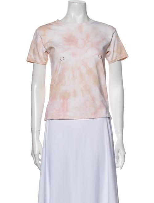 Collina Strada Tie-Dye Print Crew Neck T-Shirt w/