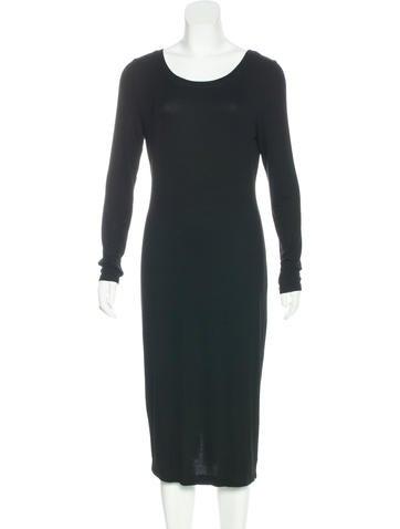 Splendid Rib Knit Midi Dress None
